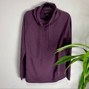 32 Degree Heat Cowl Neck Purple Sweater
